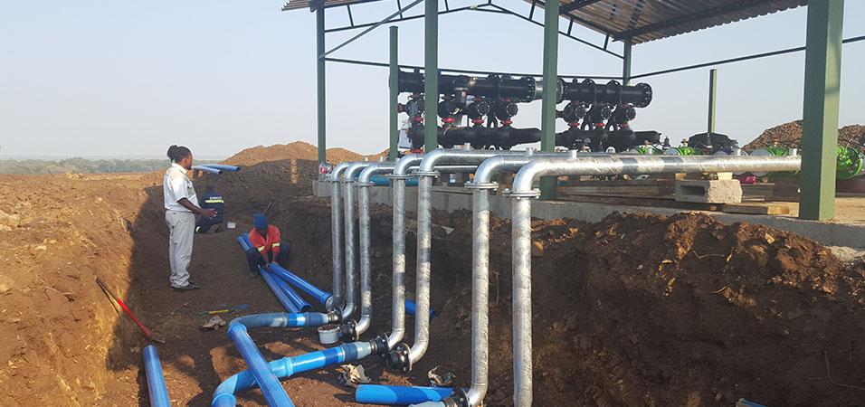 Bulk Water construction site